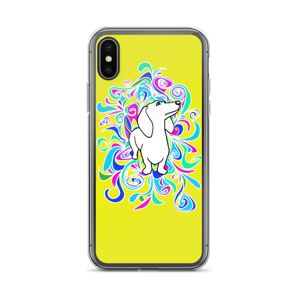 Dachshund Flower Color - iPhone Case - WeeShopyDog