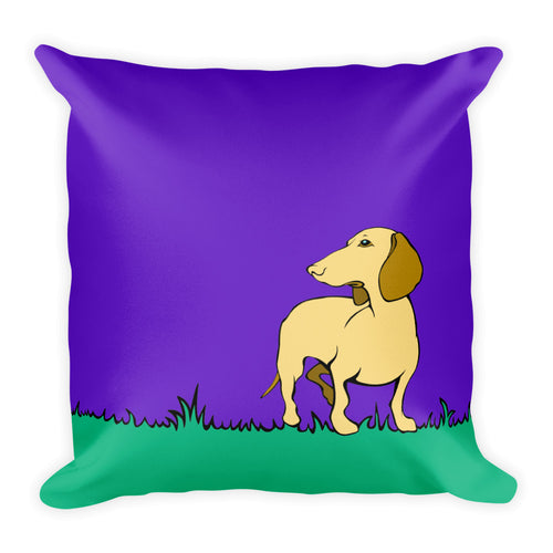 Dachshund Beauty Grass - Square Pillow - WeeShopyDog