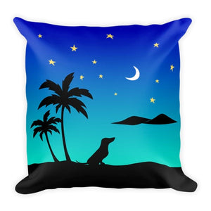 Dachshund Islands - Square Pillow - WeeShopyDog