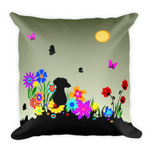 Load image into Gallery viewer, Dachshund Blossom - Square Pillow - WeeShopyDog