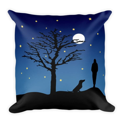 Dachshund Moon - Square Pillow - WeeShopyDog