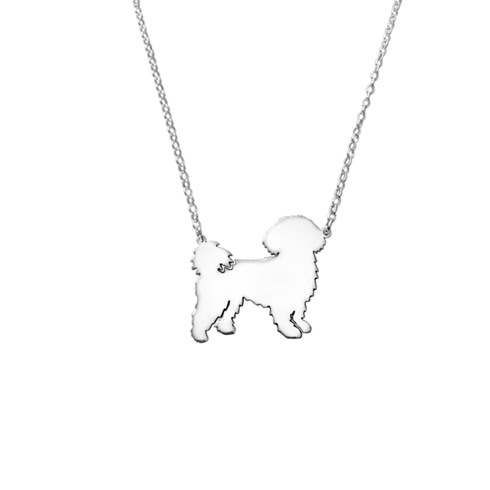 Shih Tzu Pendant Necklace - Silver/14K Gold-Plated |Line