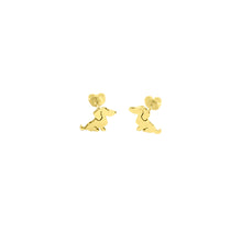 Load image into Gallery viewer, Dachshund Stud Earrings - Silver/14K Gold-Plated |Sweet - WeeShopyDog