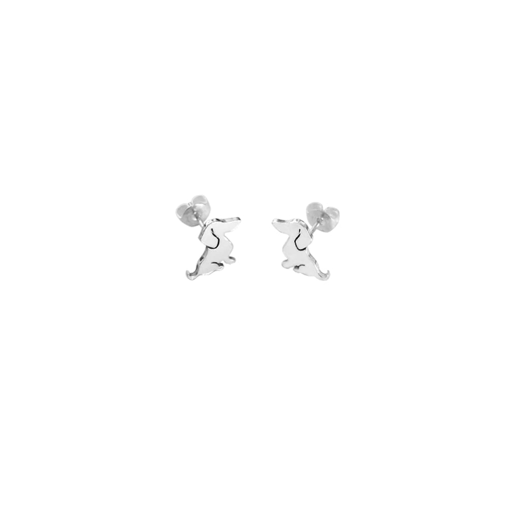 Dachshund Stud Earrings - Silver/14K Gold-Plated |Sweet - WeeShopyDog