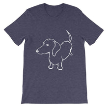Load image into Gallery viewer, Dachshund Up - Unisex/Men's T-shirt - WeeShopyDog