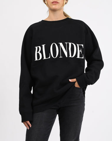 BLACK AND WHITE BLONDE BIG SISTER SWEATSHIRT
