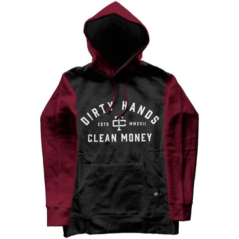 DIRTY HANDS CLEAN MONEY MAROON
