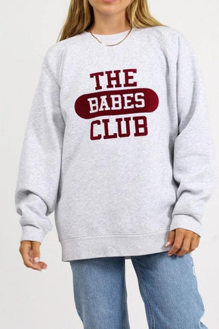 THE BABES CLUB BIG SISTER SWEATSHIRT GREY
