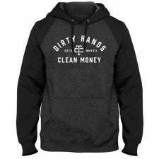 DIRTY HANDS CLEAN MONEY PULLOVER HOODY TWO TONE