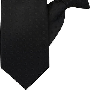 Black Spot Clip On Tie (JH-1031)