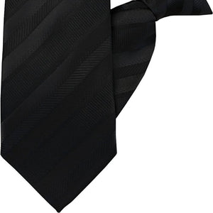 Black Stripe Clip On Tie (JH-1032)