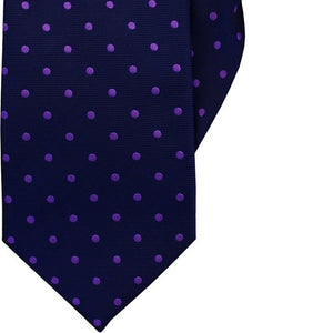 Navy with Purple Spot Clip On Tie (JH-1030)