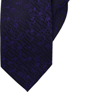 Purple Vines and Flowers Clip On Tie (JH-1022)