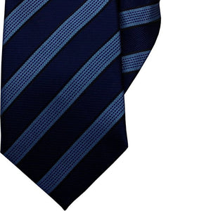 Navy and Blue Stripe Clip On Tie (JH-1052)