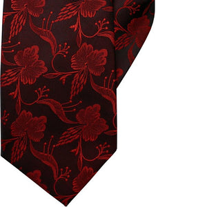 Red Flowers Clip On Tie (JH-1049)