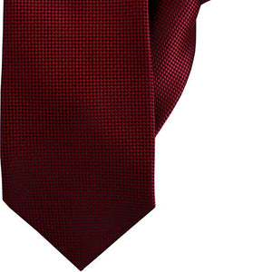 Red and Black Check Clip On Tie (JH-1061)