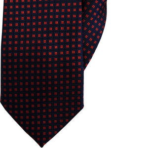 Navy with Red Squares Clip On Tie (JH-1065)