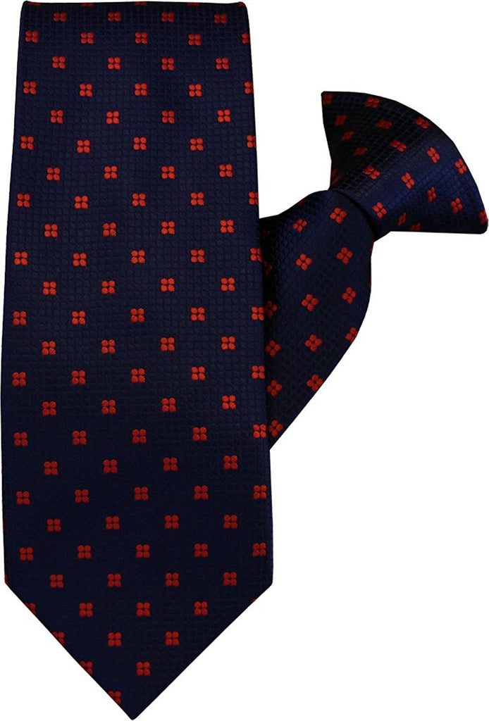 Navy with Red Spot Clip On Tie (JH-1027)