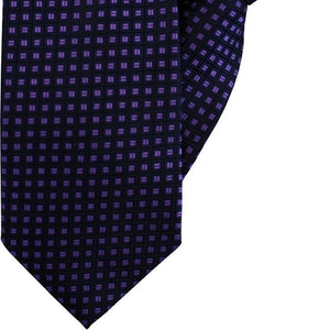 Navy with Purple Squares Clip On Tie (JH-1064)