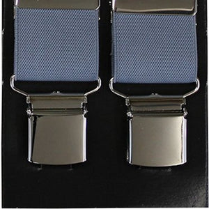 Plain Grey Wide Luxury Braces - Extra Strong Clip - 44