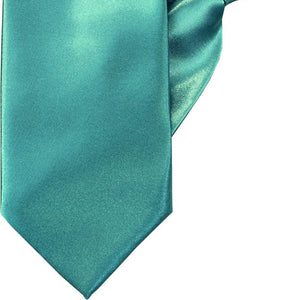 Plain Turquoise Luxury Clip On Tie (JH-P003)