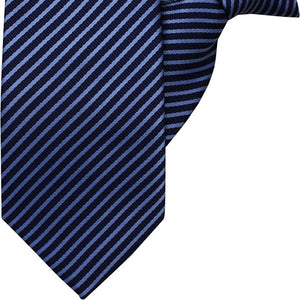 Navy and Blue Stripe Clip On Tie (JH-1046)