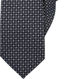 Black with White Diamonds Clip On Tie (JH-1024)
