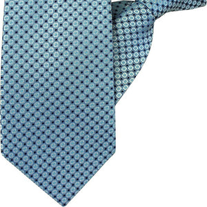 Blue with Black Squares Clip On Tie (JH-1018)