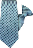 Blue with Black Squares Clip On Tie (JH-1018) John Henry - Meechs
