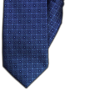 Blue Square Design Clip On Tie (JH-1099)