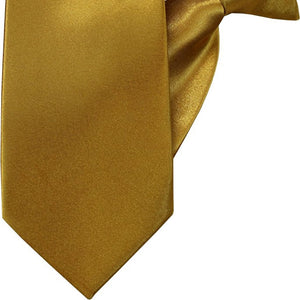 Plain Gold Luxury Clip On Tie (JH-P004)