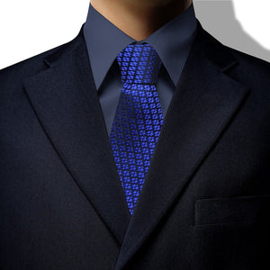 Royal Blue Houndstooth Clip On Tie (JH-1066)