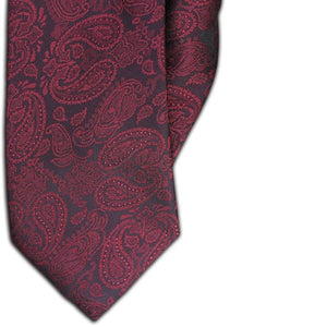 Red Paisley Design Clip On Tie (JH-1085)