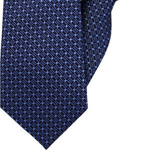 Navy with Blue Diamonds Clip On Tie (JH-1006)