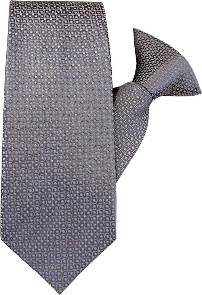 Grey Circles Clip On Tie (JH-1033)