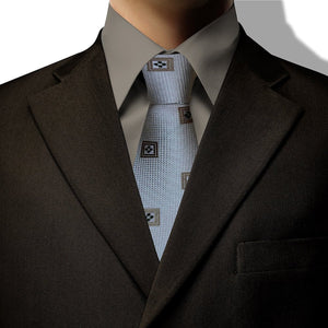 Beige Square Design Clip On Tie (JH-1073)
