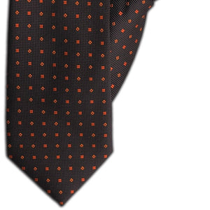 Brown and Burnt Orange Design Clip On Tie (JH-1105)