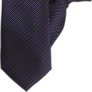 Black with Purple and Silver Design Clip On Tie (JH-1102)