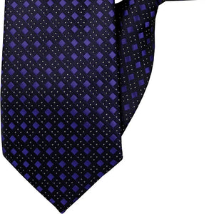 Black with Purple Diamonds Clip On Tie (JH-1012)