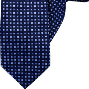 Navy with Blue Squares Clip On Tie (JH-1025)