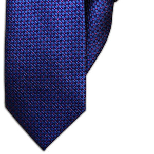Royal Blue and Purple Diamond Design Clip On Tie (JH-1068)
