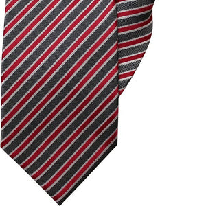 Fuchsia, White and Black Stripe Clip On Tie (JH-1041)