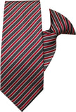 Fuchsia, White and Black Stripe Clip On Tie (JH-1041) John Henry - Meechs