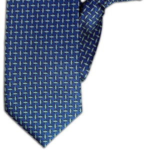 Blue Dash Design Clip On Tie (JH-1092)