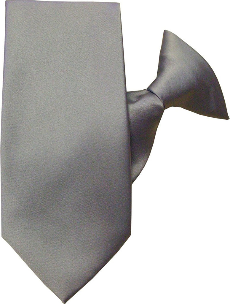 Plain Satin Clip On Tie
