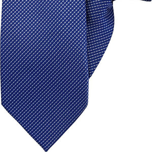 Blue with White Stripe Clip On Tie (JH-1021)