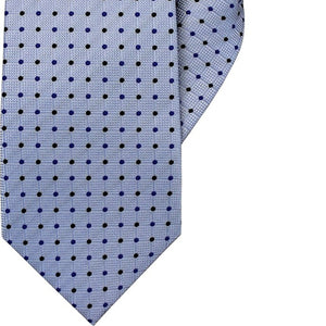 Sky Blue with Black and Blue Spot Clip On Tie (JH-1039)