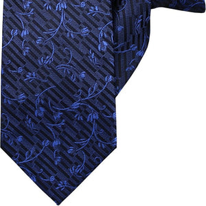 Blue Vines and Flowers Clip On Tie (JH-1023)