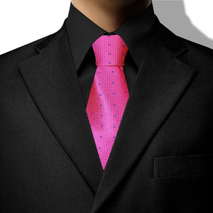 Pink with Blue Diamond Design Clip On Tie (JH-1071)