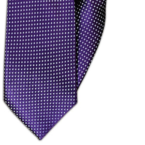 Purple with Silver Square Design Clip On Tie (JH-1075)